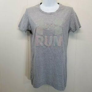 Under Armour T Shirt Top Tee Heat Gear XS Gray Run
